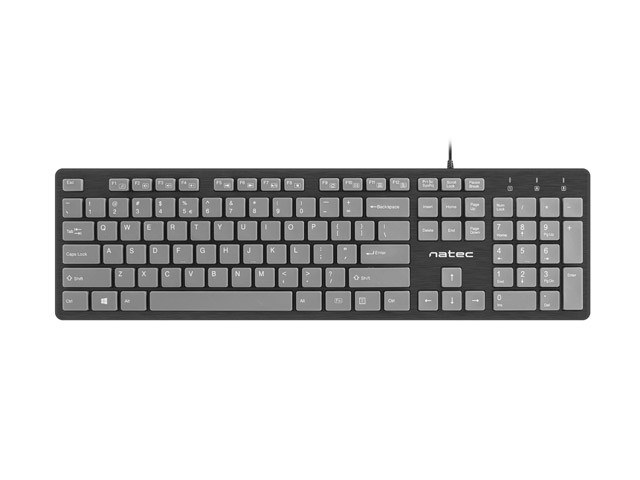 KEYBOARD NATEC DISCUS SLIM BLACK/GREY US LAYOUT
