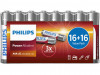 BATTERIES PHILIPS POWER ALKALINE AAA LR03 (32 PCS)